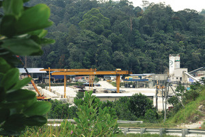 Remote adit sites are located in the mountains surrounding Kuala Lumpur, Malaysia, requiring supplies such as invert segments to be cast onsite