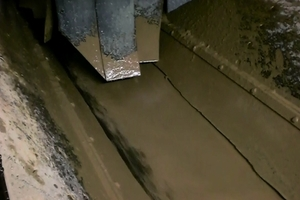 """<div class=""""bildtext_en"""">Proper ground conditioning can make all the difference in muck flow and ultimately machine performance. In this photo, watery clay is seen without conditioners</div><div class=""""bildtext_en""""></div>"""