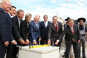 On 16 September 2016, a ceremony was held to lay the foundation stone of the new underground station for the Stuttgart 21 project <br />