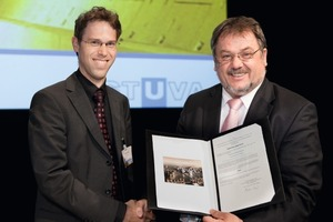3  Dr. Jan-Niklas Franzius (on the left). Winner of the STUVA Prize for up-and-comers<br />