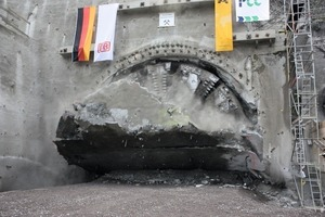 TBM breakthrough portal Cochem