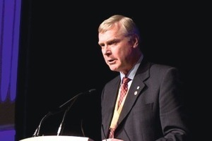 3  Rick Staples, president of the Tunnelling Association of Canada opening the 2010 World Tunnel Congress<br />