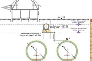 """<div class=""""bildtext"""">U-Bahn in München: Querschnitt der Tunnelröhren mit Abwasserkanal</div>"""