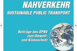 "A new title in the VDV's Blue Series: ""Sustainable local transport - Contributions by local passenger transport to environmental and climate protection"""