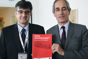 "<div class=""bildtext_en"">Yann Leblais (on the right) handing over the AFTES recommendation translated into Croatian</div>"