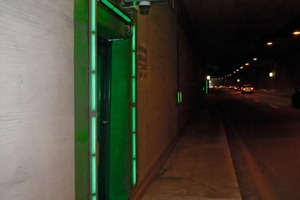 Retrofitting the evacuation doors with active lighting and fields of attention