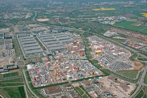 Aerial shot of bauma 2007 from the east<br />