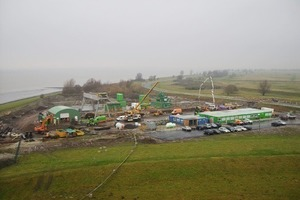 """View of the """"Ems Crossing"""" construction site from the radar tower<br />"""