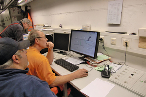 """<div class=""""bildtext_en"""">Control centre for manual control of the fans given regular testing with display of the current vibration values and alarm reports on the PC screen</div>"""