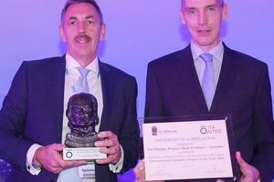 6)&nbsp;&nbsp;&nbsp;&nbsp; Dr. Klaus Rieker (on the left) and Martin Froning (on the right) received the 2016 ITA Award for the best Environmental Initiative on behalf of those involved <br />