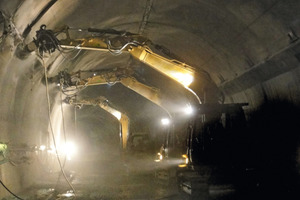 Several cutters were operational throughout for demolition and profiling activities in the Michaelstunnel near Baden-Baden/D