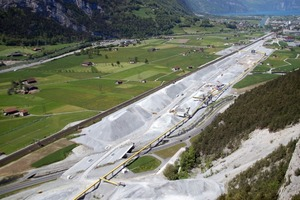 1 Construction site for the northern access in the Urner Reusstal Valley<br />