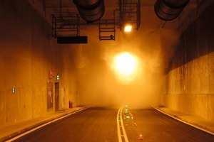 Commissioning the test of FFFS in the new Tyne Tunnel in February 2011 [8]