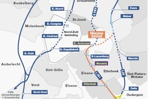 1 Overview of the railway network around Brussels/B